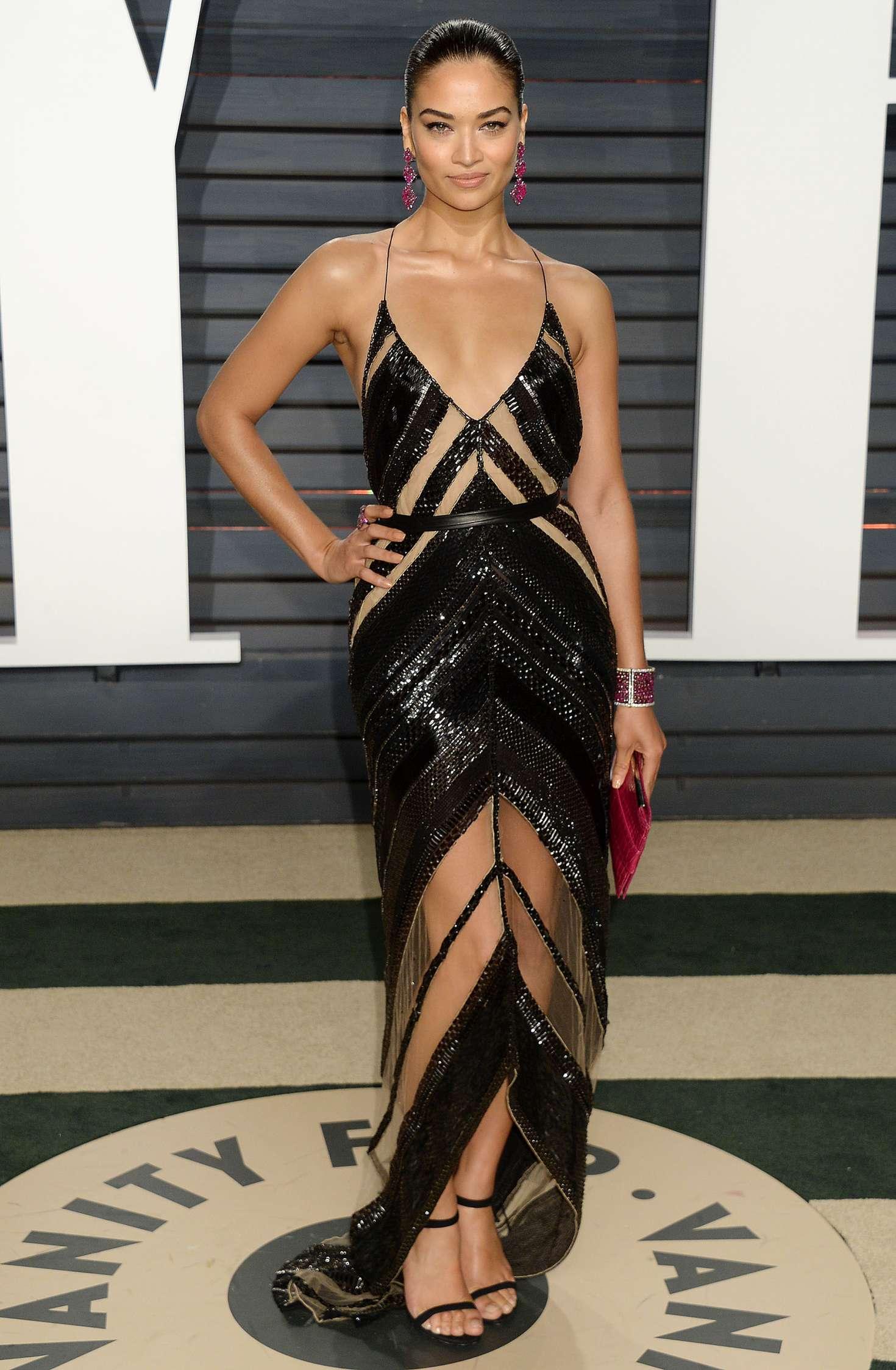 Shanina Shaik 2017 Vanity Fair Oscar Party In Hollywood
