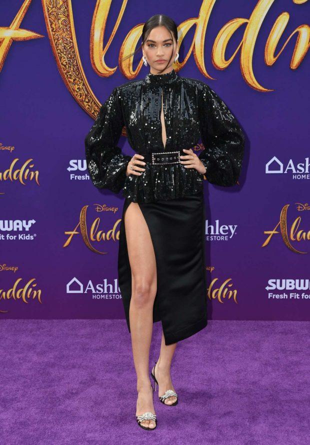 Shanina Shaik - 'Aladdin' Premiere in Los Angeles