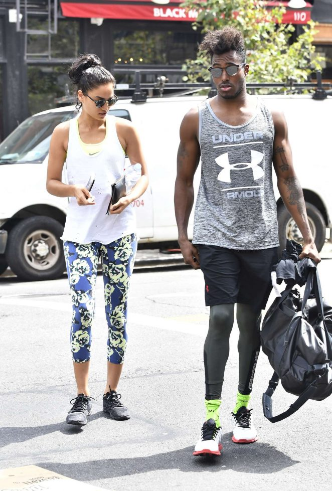 Shanina Shaik and DJ Ruckus Head To The Gym