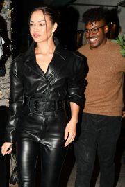 Shanina Shaik and DJ Rukus - Leaves Madeos in Beverly Hills