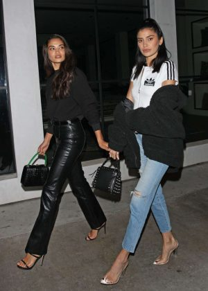 Shanina Shaik and Nicole Williams - Leaving Catch LA in West Hollywood