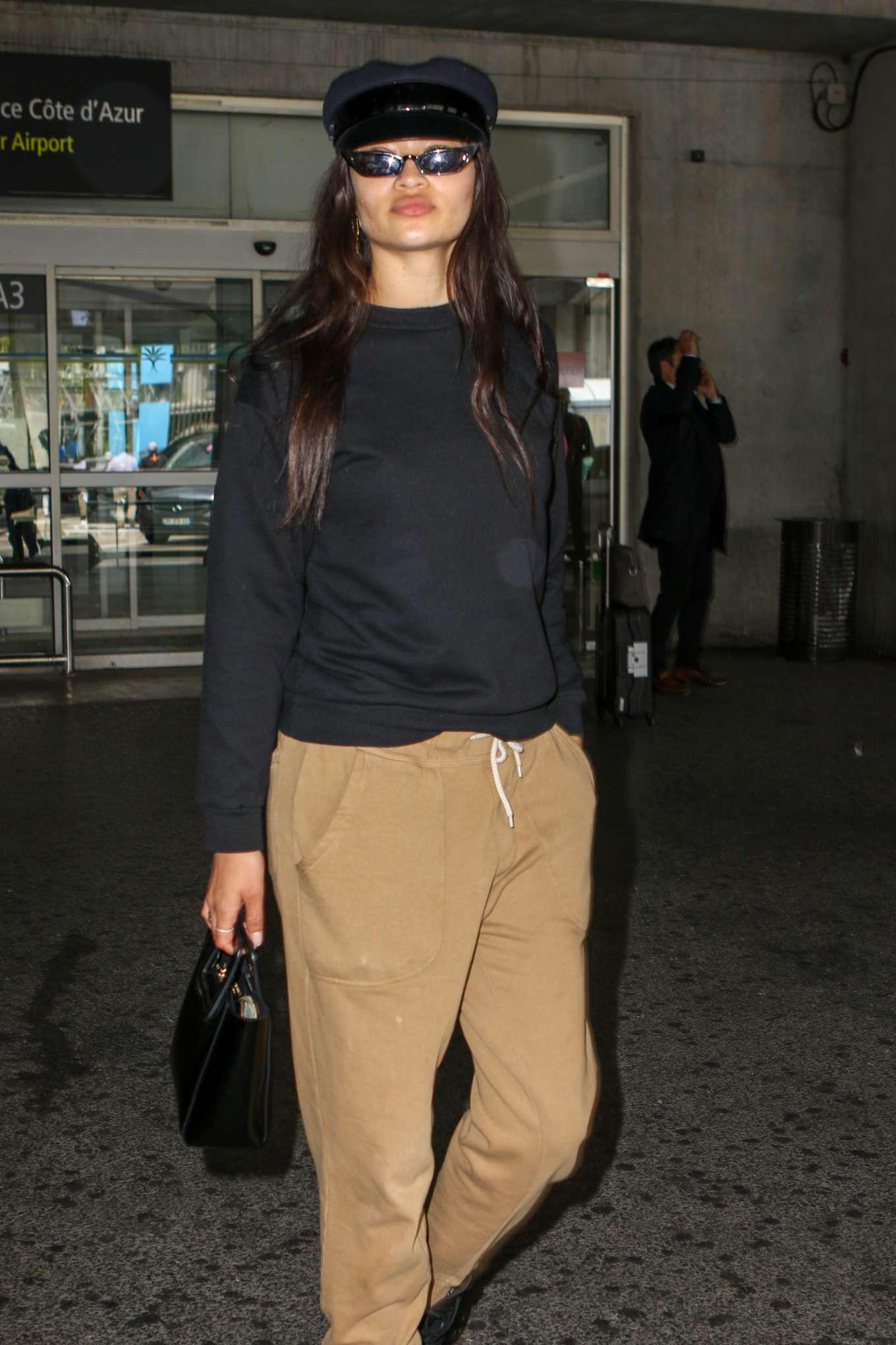Shanina Shaik - Arrives at Nice Airport in France