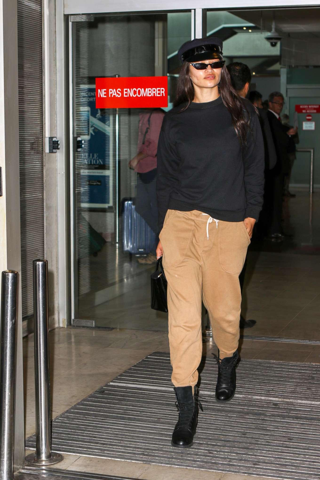 Shanina Shaik 2019 : Shanina Shaik: Arrives at Nice Airport-05
