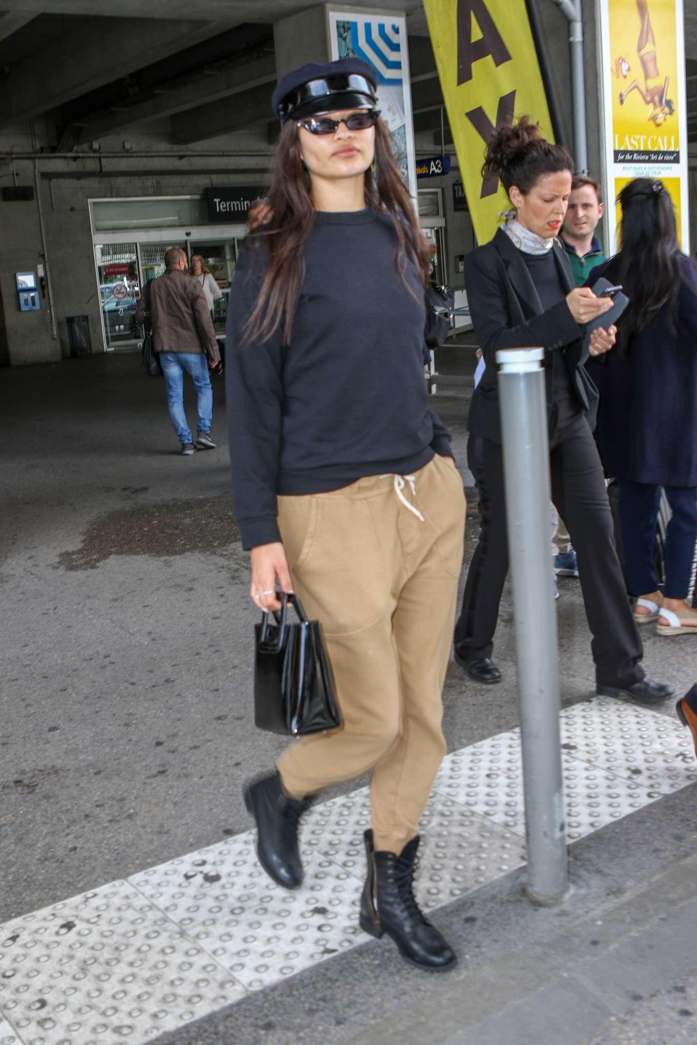 Shanina Shaik 2019 : Shanina Shaik: Arrives at Nice Airport-07