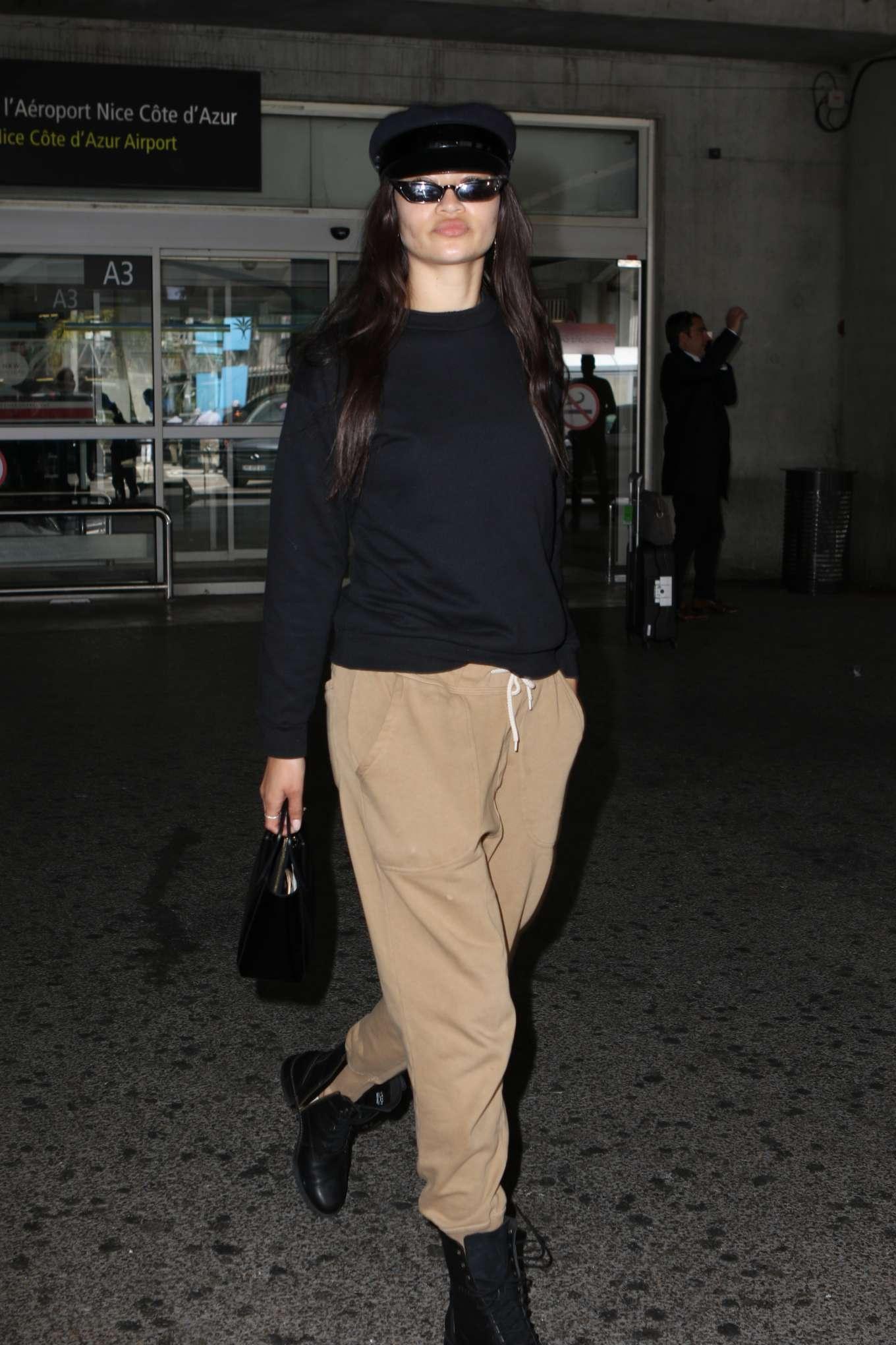 Shanina Shaik 2019 : Shanina Shaik: Arrives at Nice Airport-09
