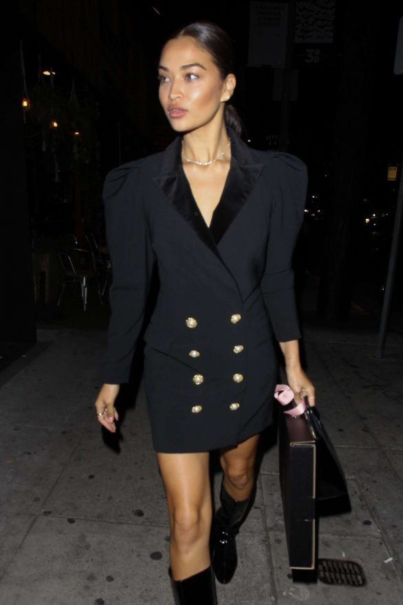 Shanina Shaik - Arrives for Nicole Williams' Party at Kassi Club in Los Angeles
