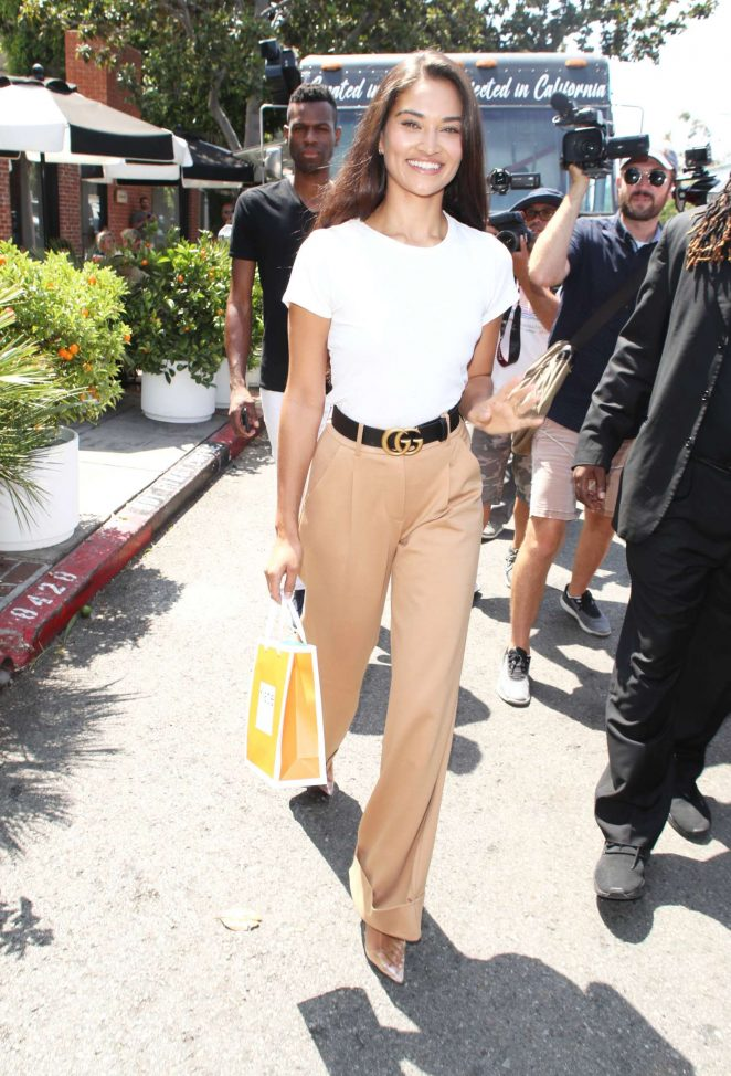 Shanina Shaik - During a photoshoot in West Hollywood