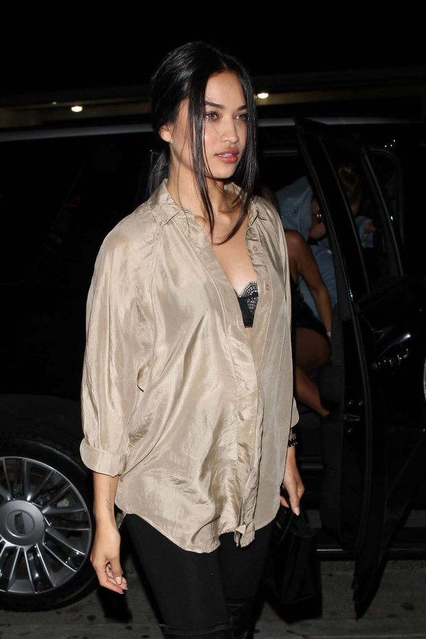 Shanina Shaik - Going to the Delilah Club in West Hollywood