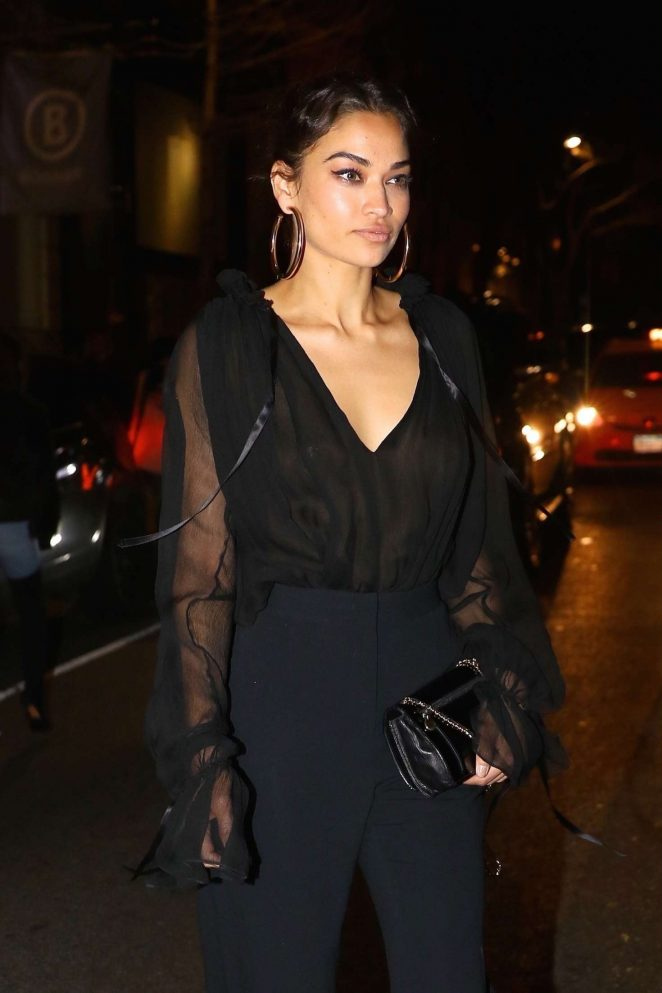 Shanina Shaik in Black out in New York City