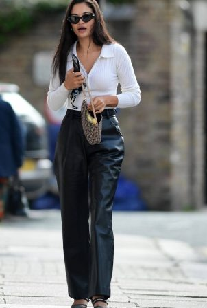 Shanina Shaik is spotted leaving lunch in Chelsea