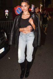 Shanina Shaik - On a night out during Milan Fashion Week