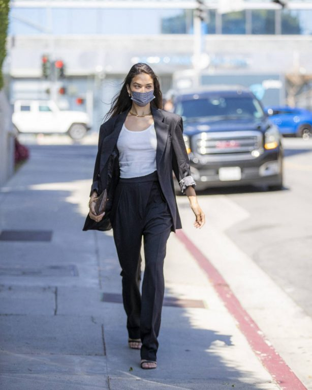 Shanina Shaik - Running errand in West Hollywood