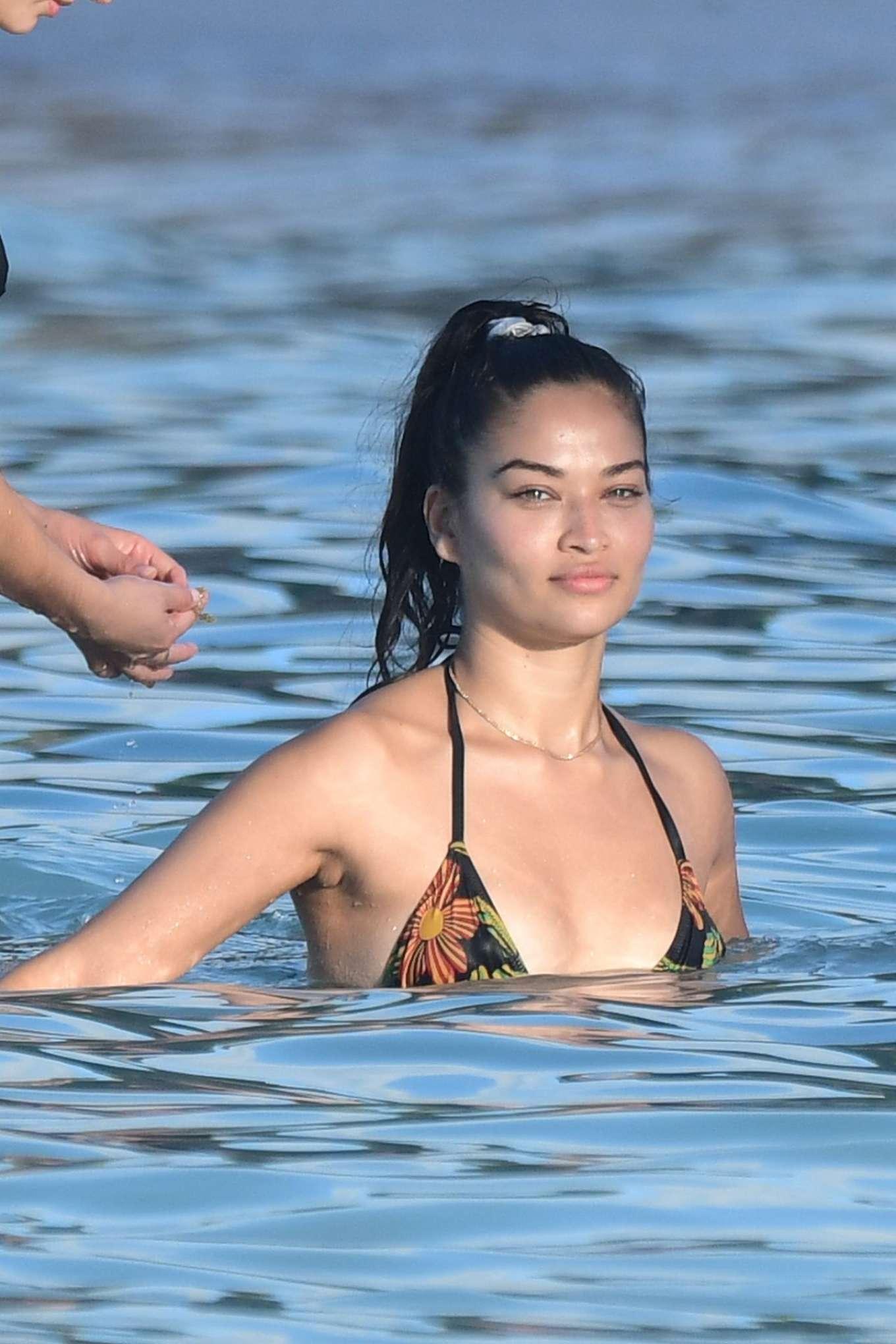 Shanina Shaik – Wearing bikini in St Barts-01