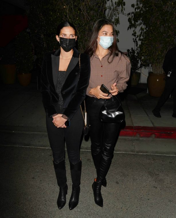 Shanina Shaik with Jasmine Tookes and Sara Sampaio - Seen  together at E Baldi in Beverly Hills