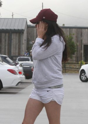 Shannen Doherty in White Shorts out in Malibu