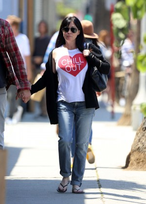 Shannen Doherty in Jeans out in Venice Beach