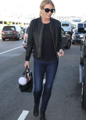 Shannon Tweed at LAX Airport in Los Angeles