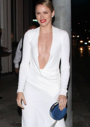Shantel VanSanten in White Dress out in West Hollywood