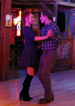 Sharna Burgess and Bonner Bolton at Cowboy Palace Saloon in Los Angeles