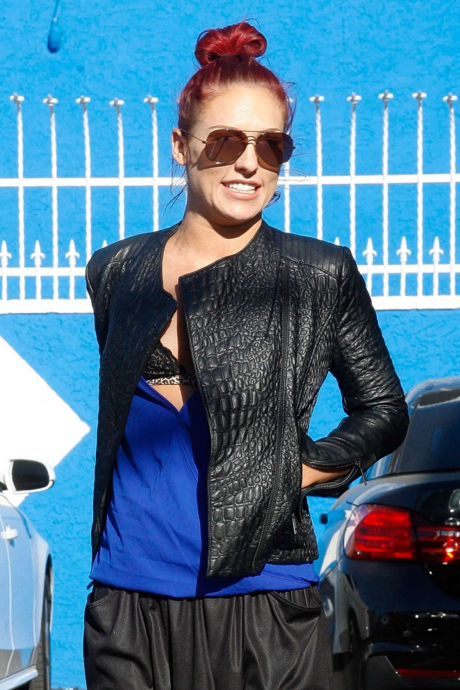 Sharna Burgess at DWTS Practice in Hollywood