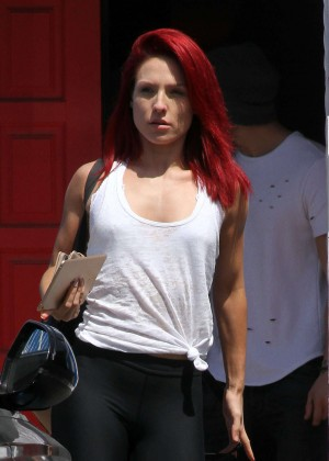 Sharna Burgess at DWTS Studio in Hollywood