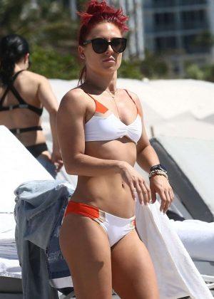 Sharna Burgess - Bikini candids In Miami