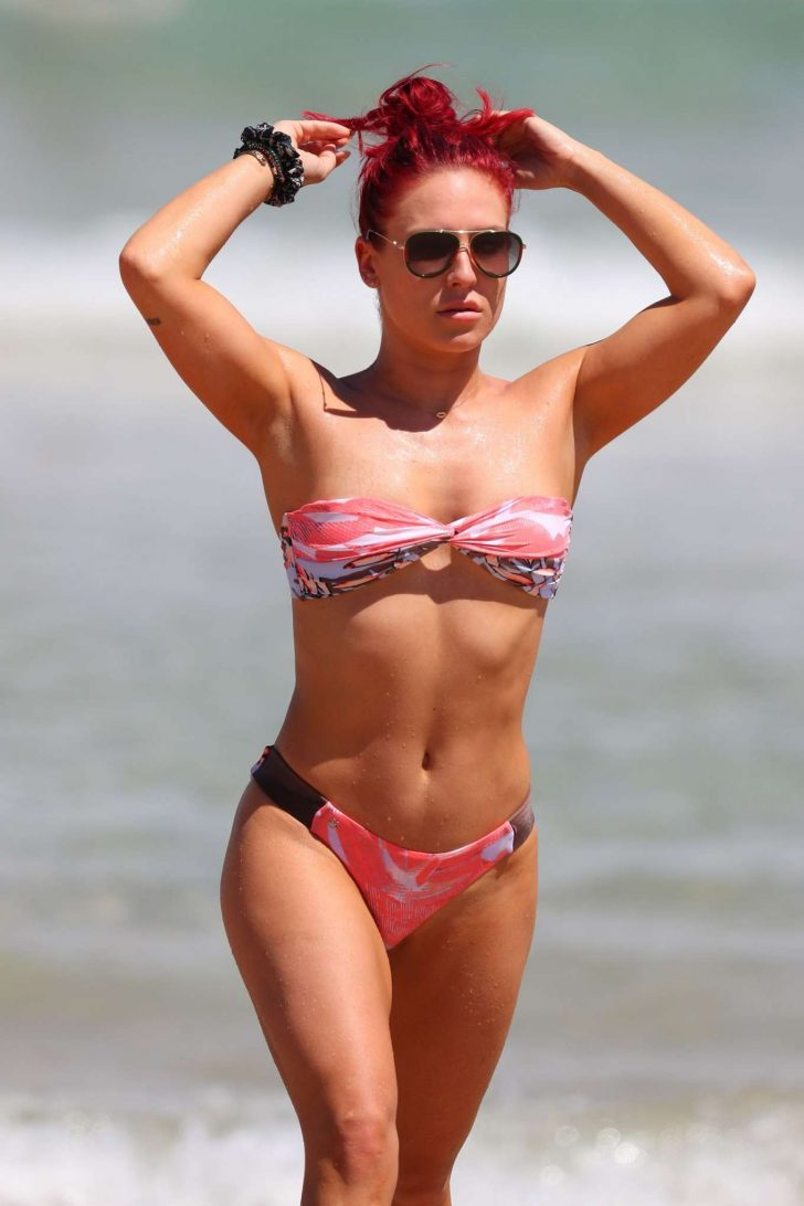 Sharna Burgess in Bikini on Bondi Beach in Sydney