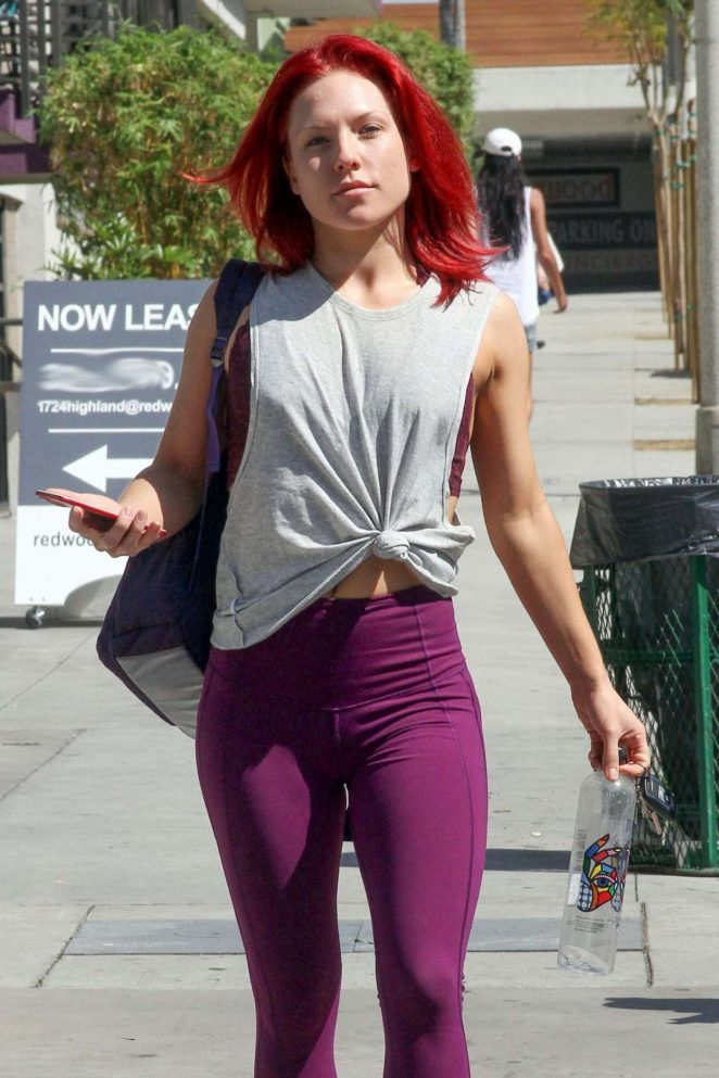 Sharna Burgess in Tights at DWTS Studio in Los Angeles