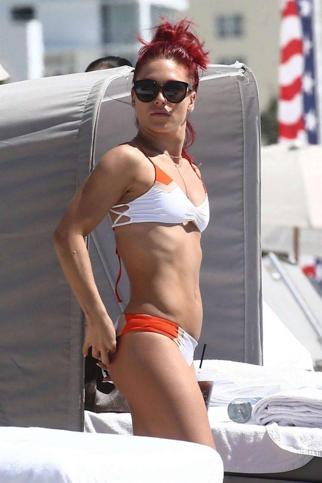 Sharna Burgess - Wearing bikini at the beach in Miami Beach