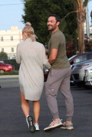 Sharna Burgess - With Brian Austin Green seen leaving the DWTS studio in Los Angeles