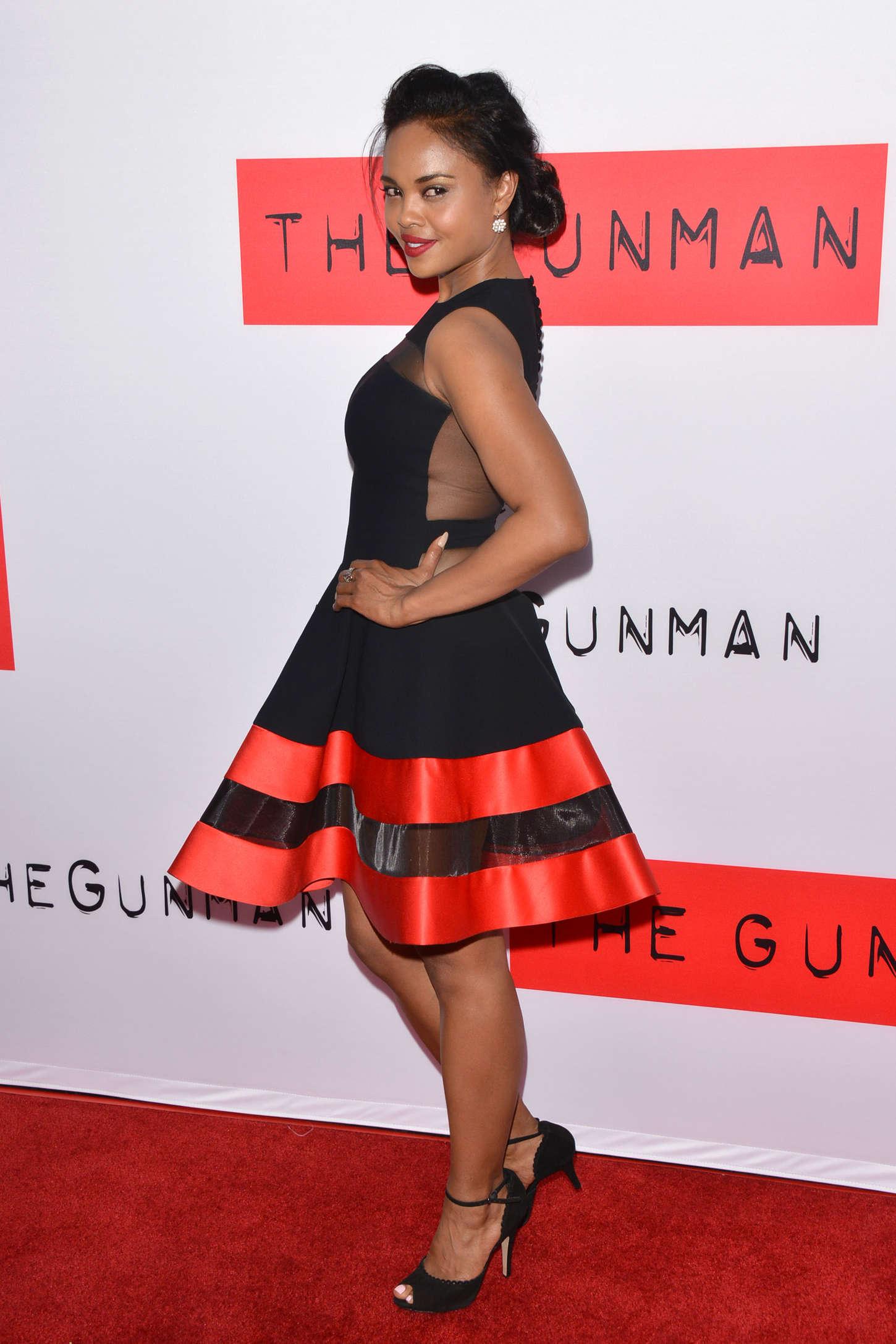 """Sharon Leal - """"The Gunman"""" Premiere in LA"""