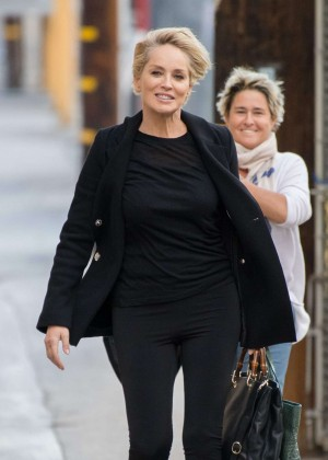 Sharon Stone - Arriving at 'Jimmy Kimmel Live' in Hollywood