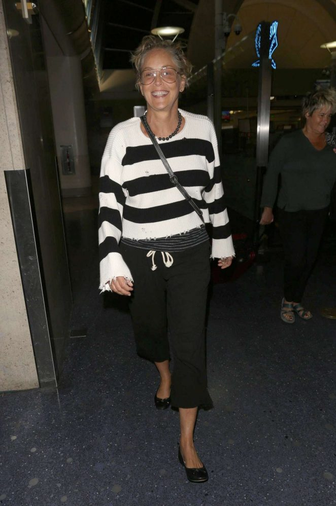 Sharon Stone at LAX Airport in Los Angeles
