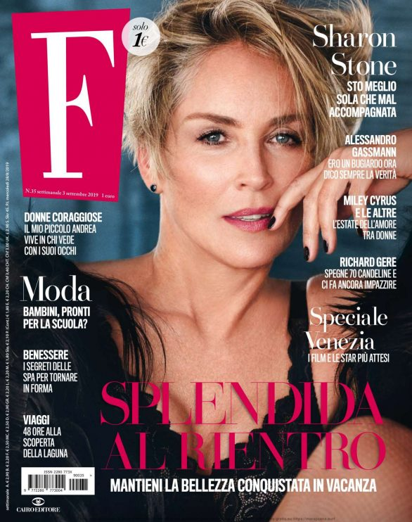 Sharon Stone -  F Magazine (September 2019)