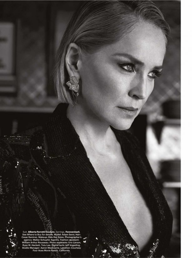 Sharon Stone - Harper's Bazaar India Magazine (March 2020)