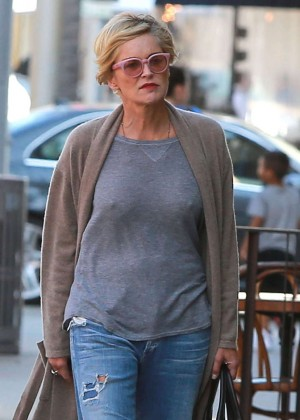 Sharon Stone - Leaving a nail salon in Beverly Hills