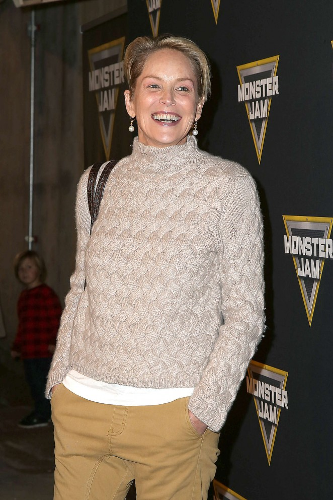 Sharon Stone - Monster Jam Celebrity Night in Anaheim