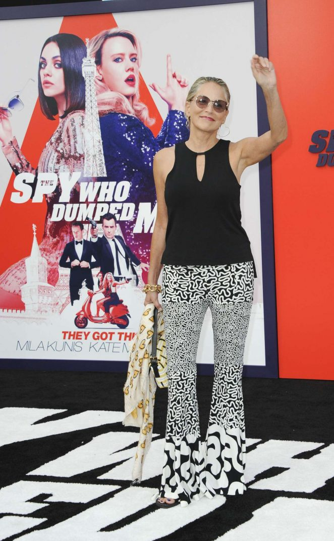 Sharon Stone - 'The Spy Who Dumped Me' Premiere in Los Angeles