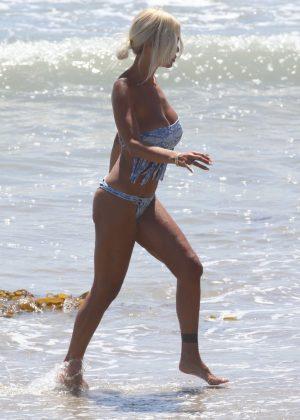 Shauna Sand - Bikini candids in Malibu