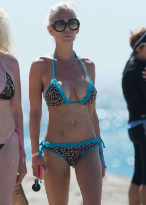 Shauna Sand in Bikini on the beach in Malibu