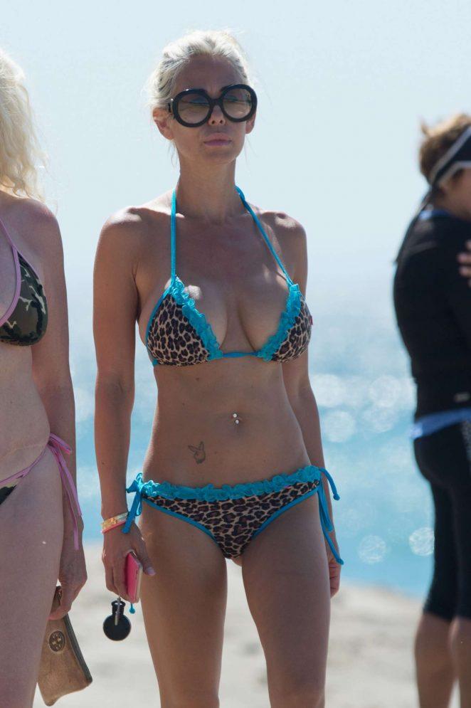 Shauna Sand in Bikini on the beach in Malibu