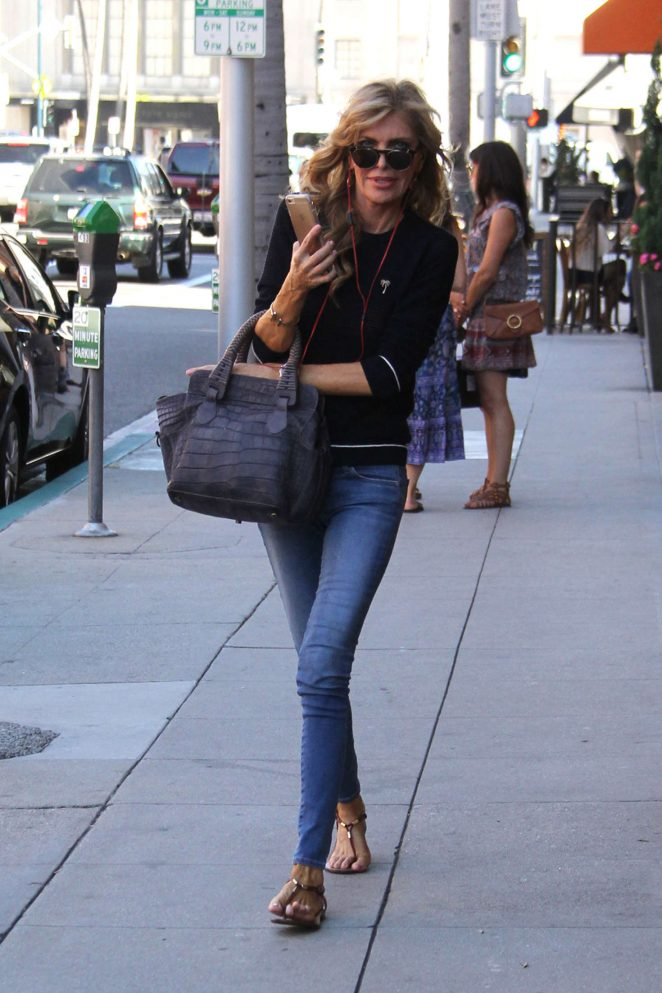 Shawn King in Jeans Out in Beverly Hills