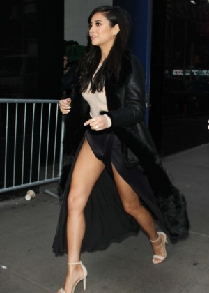 Shay Mitchell Arrives at 'Good Morning America' in New York