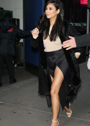 Shay Mitchell Arrives at Good Morning America -04