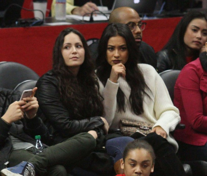 Shay Mitchell at Clippers Game at Staples Center -07
