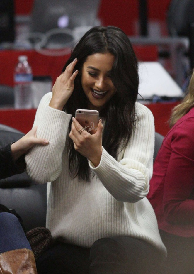 Shay Mitchell at Clippers Game at Staples Center -11