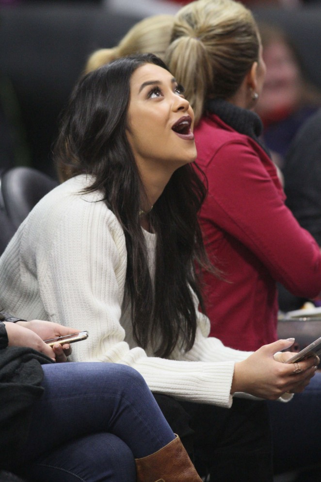 Shay Mitchell at Clippers Game at Staples Center -12