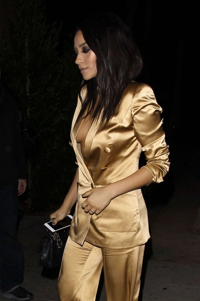 Shay Mitchell at Drake's 30th birthday Celebration in West Hollywood