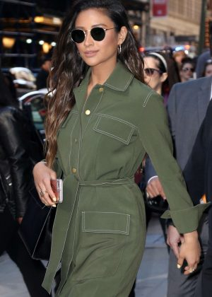 Shay Mitchell at the Good Morning America Studios in NYC