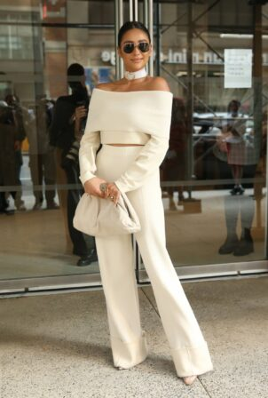 Shay Mitchell - Attends Altuzarra SS22 during New York Fashion Week